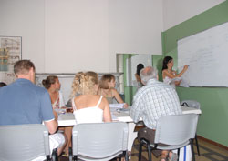 Students attending the italian language course